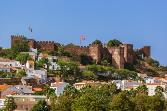 Beautiful moorish castle in Silves town in Portugal's Algarve