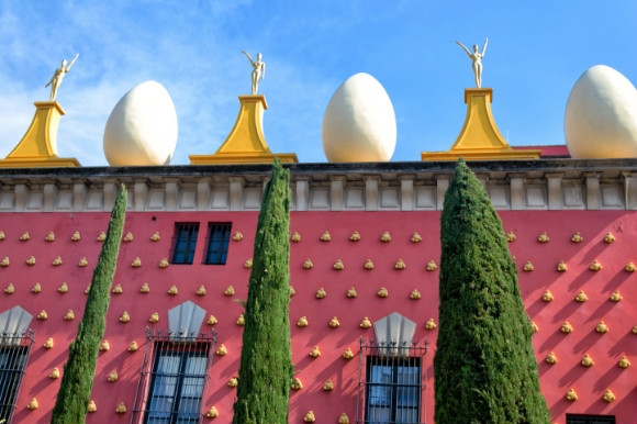The beautiful architecture of the Dali Museum in Spain full of wonderful masterpieces.