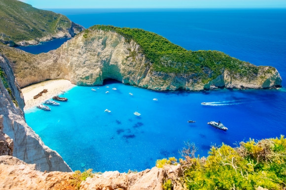 Gorgeous views of the island of Zakynthos. Bay Navagio in Zante