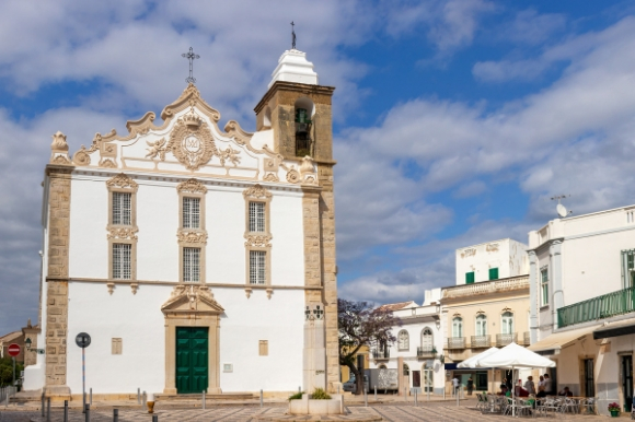 The beautiful Church Nossa Senora do Rosario in the town of Olhao, Portugal