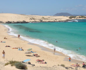 The mountainous landscape of Fuerteventura and the dramatic coastline
