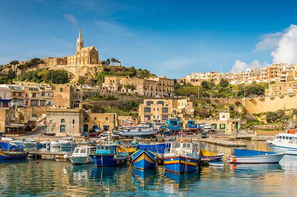 A blissful shot of the harbour in Gozo
