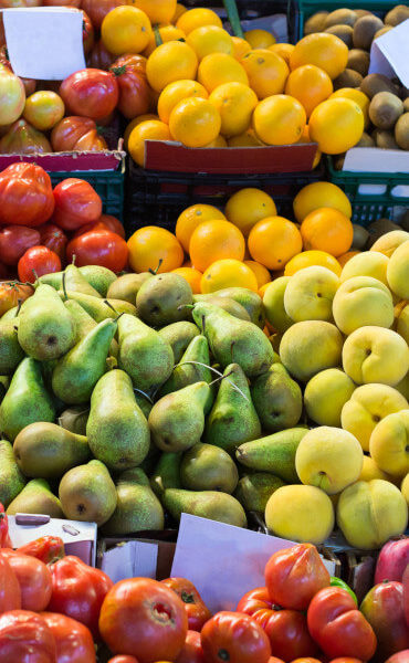 Various fruits on a Spanish market stall