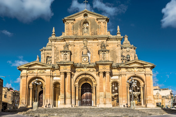 Siggiewi's top highlight St Paul's cathedral dominating the city in malta