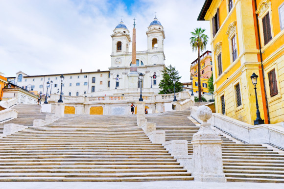 The colossal Spanish Steps in Rome's historical centre