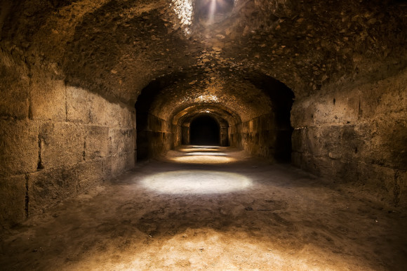 The gloomy temples of Hypogeum in Malta and its ancient walls