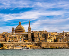 A view of Valletta, Malta's capital from the water
