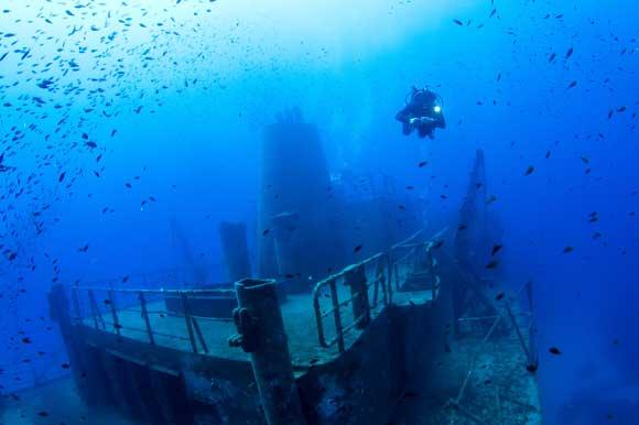 Diver marvels in Malta's largest wreck site - Um El Faroud