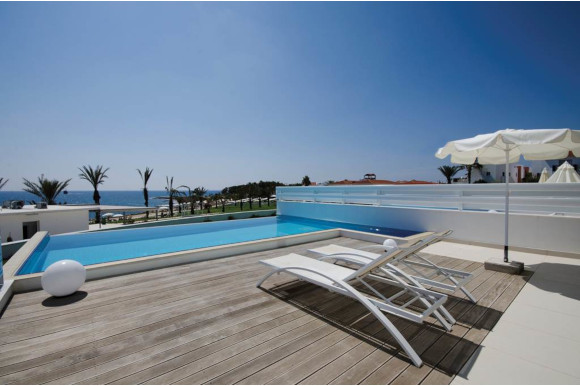 Private pool at King Evelthon Beach Cyprus suite