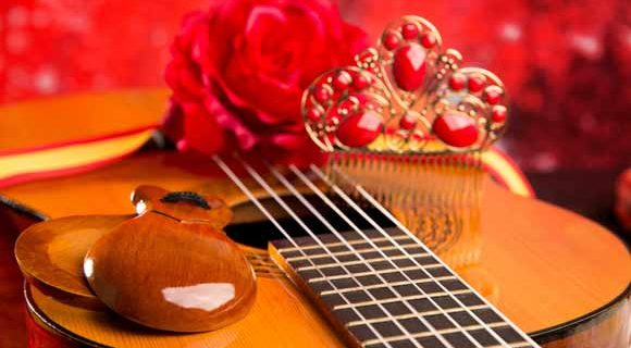 Spanish guitar and other traditional flamenco items
