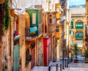 Street in Valletta town