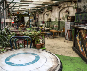 One of Budapest's ruin bars with an iconic garden theme