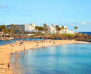 Panoramic shot of Playa Blanca Beach