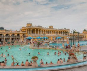 Thermal Hotspring in Budapest Hungary
