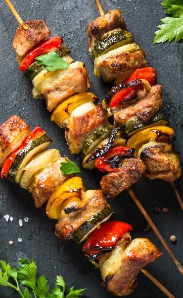 Grilled shish kebab