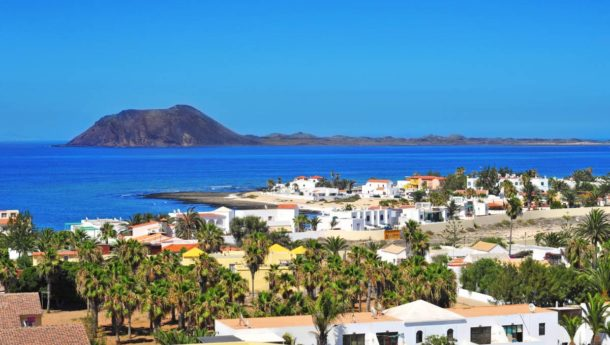 A view of Lobos Island and Corralejo