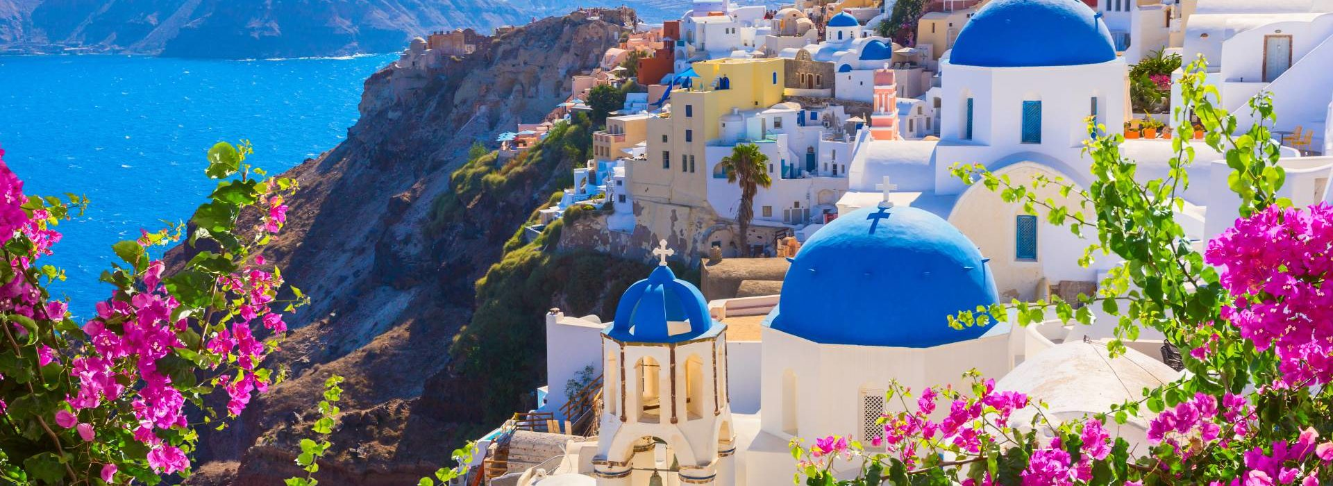 A view of Santorini