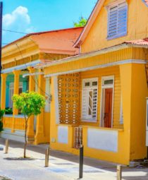 Yellow house in Puerto Plata