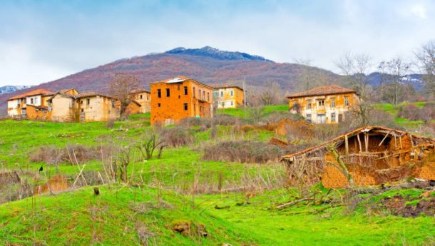 Abandoned village in Gavros