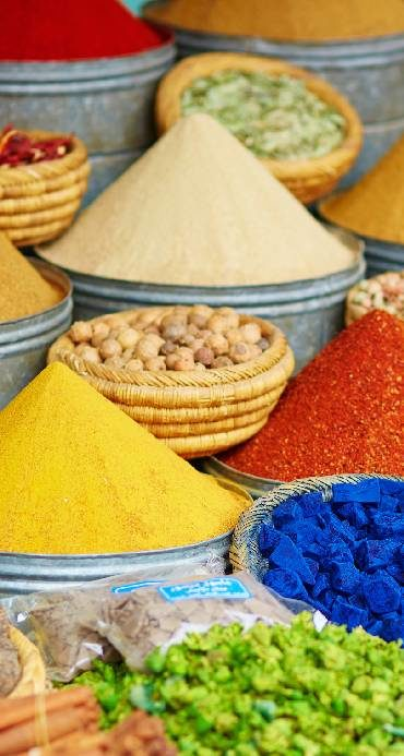 Spices in a Moroccan market