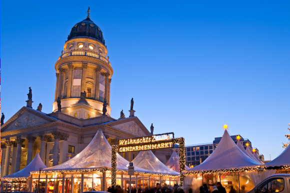 Weihnachtszauber Christmas Market in Berlin on a Clear Winter's day