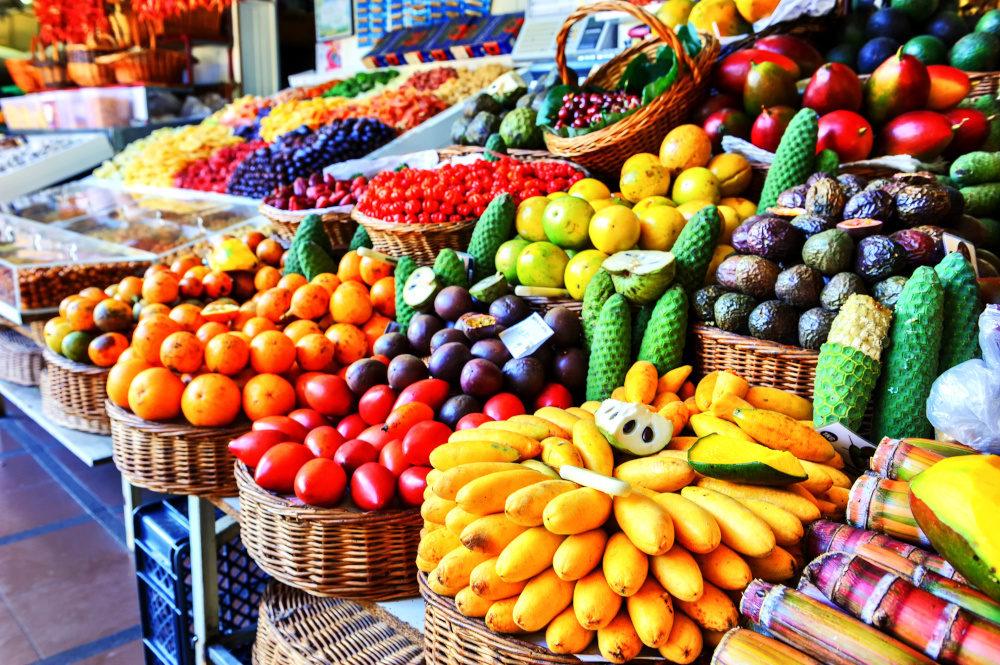 Funchal Market in Madeira Fruit Stalls