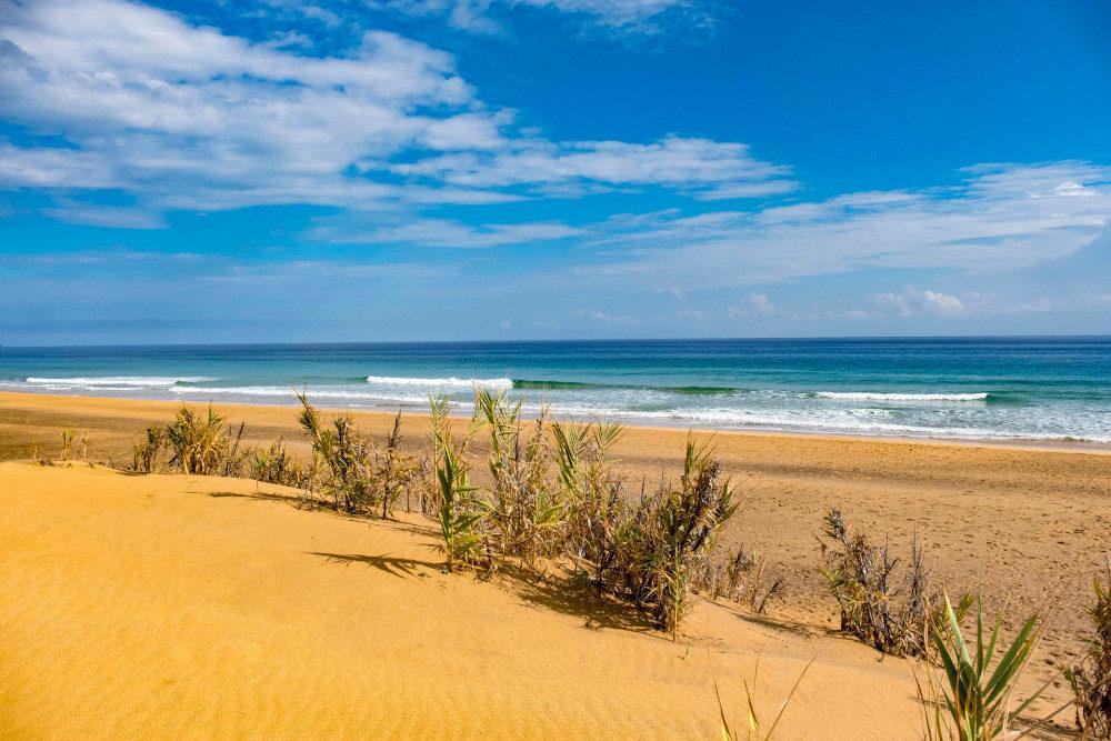 Beach of Porto Santo on a sunny day
