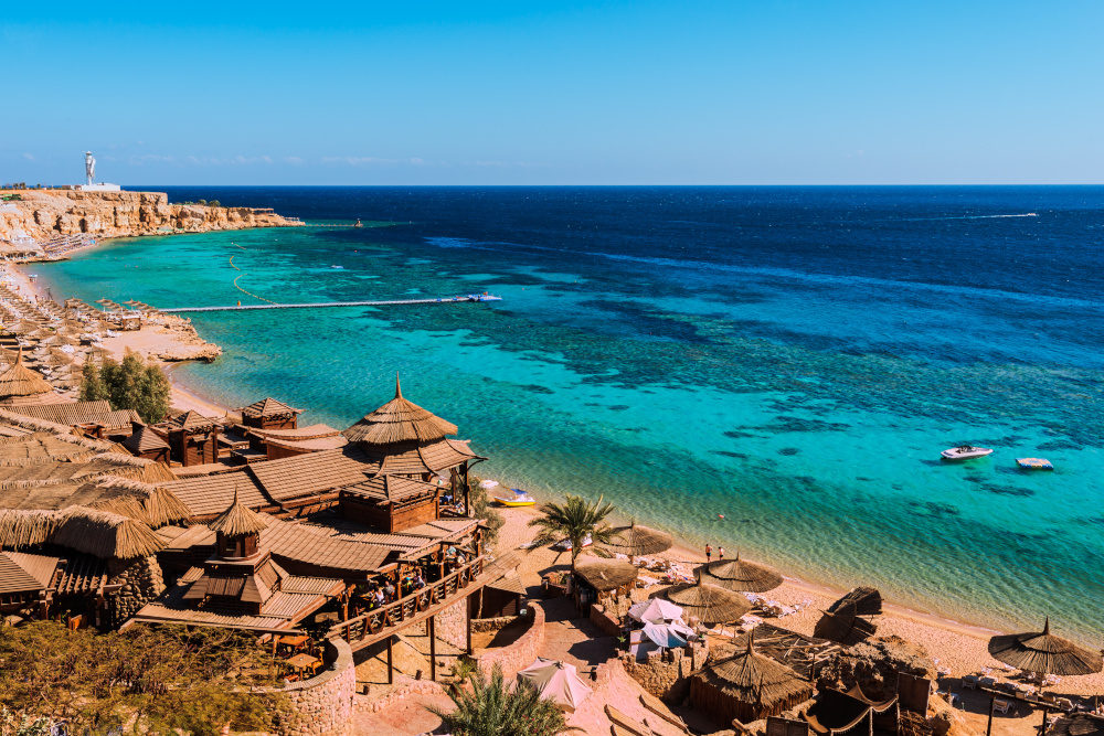 Red Sea coastline in Hurghada, Egypt, Sinai