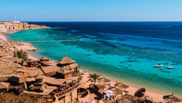Red Sea coastline in Hurghada, Egypt, Sinai