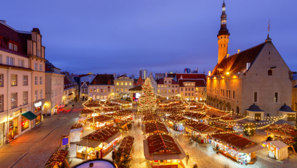 Christmas at the town square in Tallinn