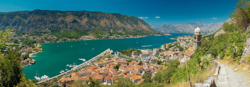Kotor Bay in Montenegro with a mountainous Backdrop