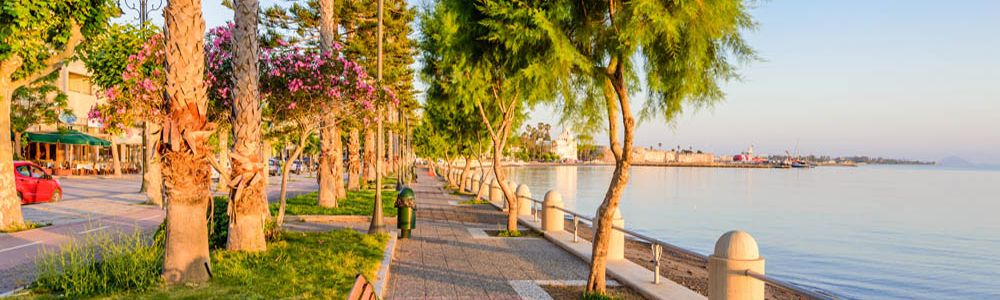 Beach walk way Kos Twon
